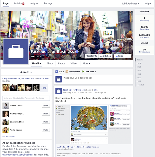 Facebook Biz Page -new 2014