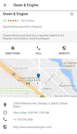Google Trips Map